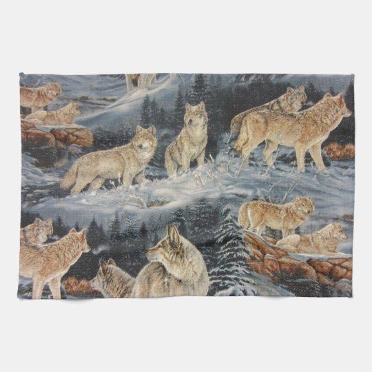 Winter Wolves Kitchen Towel