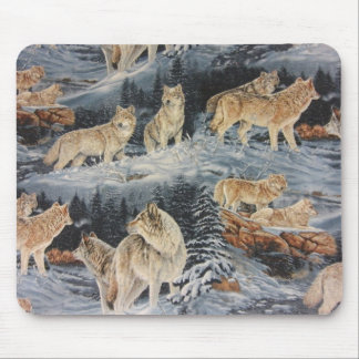 Winter Wolves Mouse Pad