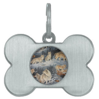 Winter Wolves Pet ID Tag