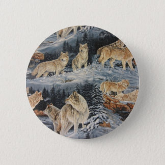 Winter Wolves Pinback Button