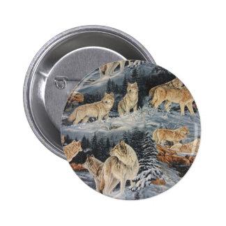 Winter Wolves Pinback Button
