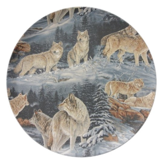 Winter Wolves Plate