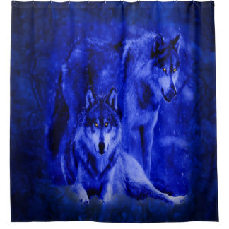 Winter Wolves Shower Curtains Shower Curtain