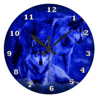 Winter Wolves Wolf Clocks