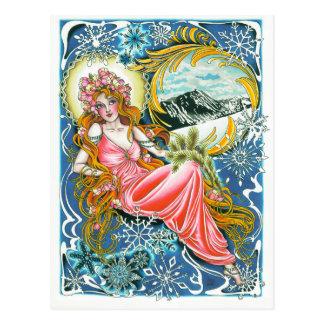 """Winter Woman"" greeting card"