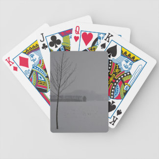 Winter wonder country bicycle playing cards
