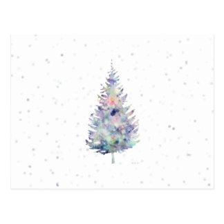 Winter Wonder One Tree Art Postcard