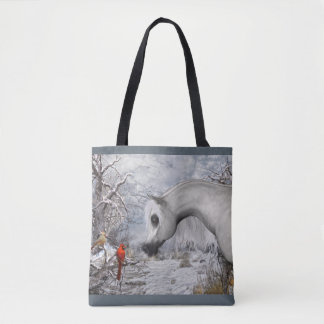 Winter Wonder Tote Bag, You Pick Background Color