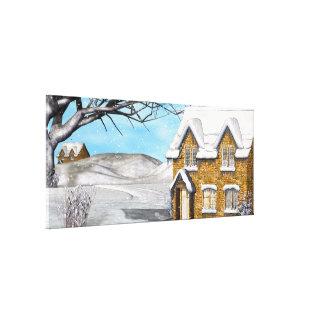 Winter Wonderland 2 Folk Art Canvas Print