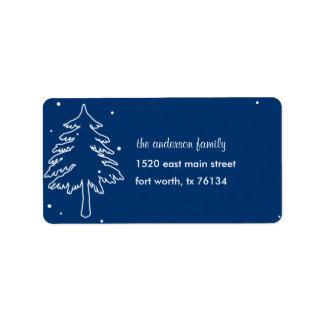 Winter Wonderland Address Label Personalized Address Label