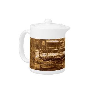 Winter Wonderland Assonet Massachusetts Teapot