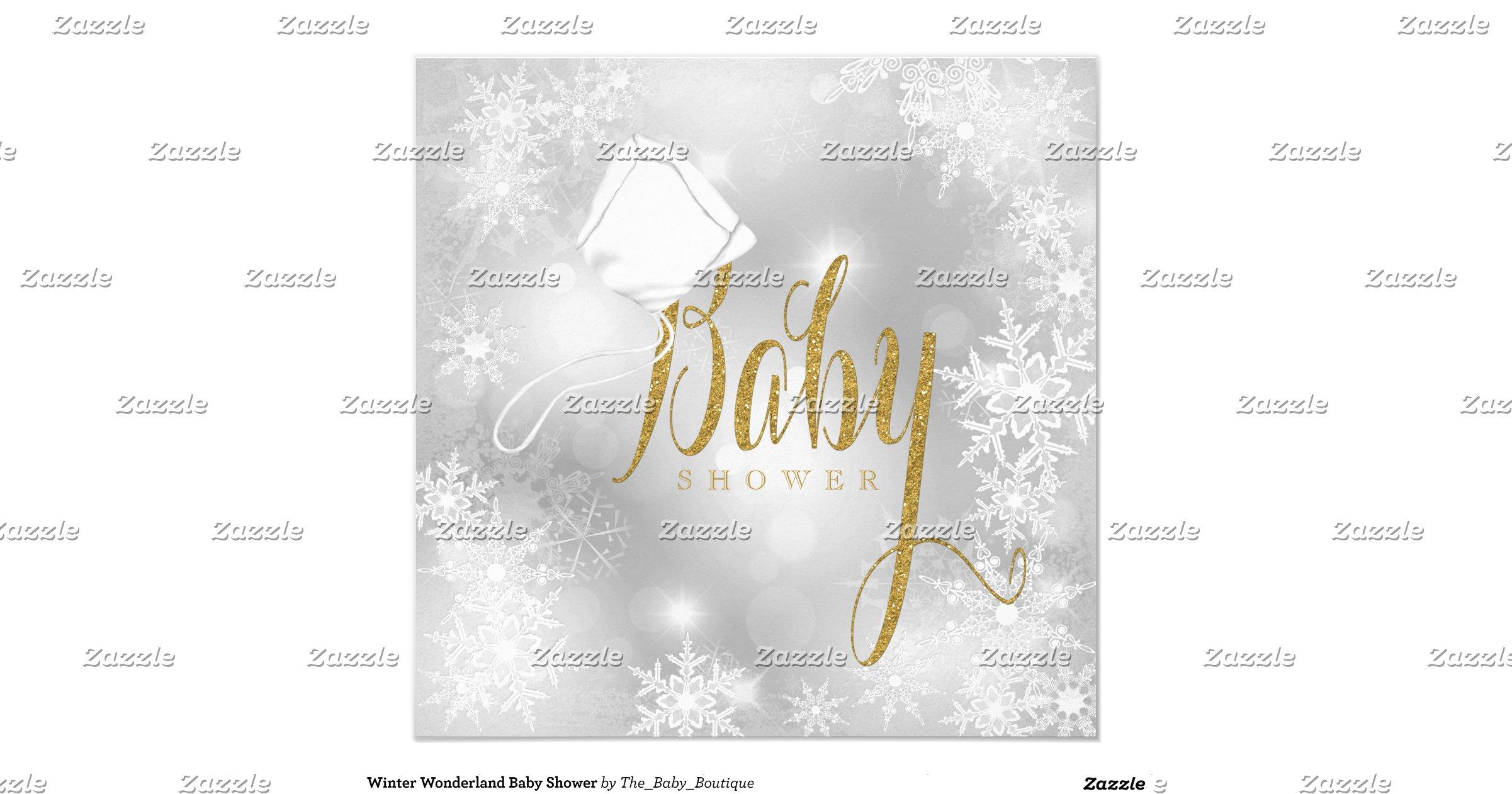 winter wonderland baby shower invitation