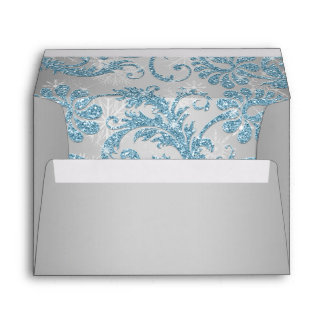 Winter Wonderland Bat Mitzvah Envelope for 5 x7 s
