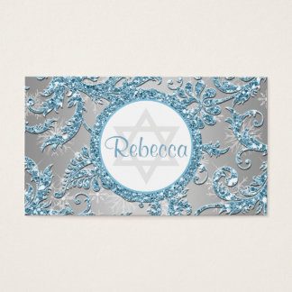 Winter Wonderland Bat Mitzvah Favor Tag
