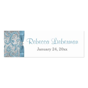 Winter Wonderland Bat Mitzvah Favor Tag 2 Double-Sided Mini Business Cards (Pack Of 20)