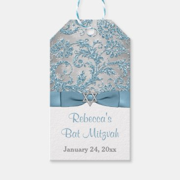 Winter Wonderland Bat Mitzvah Favor Tag - Ice Blue Pack Of Gift Tags