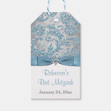 Winter Wonderland Bat Mitzvah Favor Tag - Ice Blue Pack Of Gift Tags