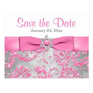 Winter Wonderland Bat Mitzvah Save the Date Card