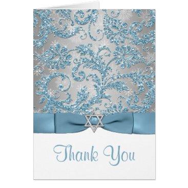 Winter Wonderland Bat Mitzvah Thank You Note Card