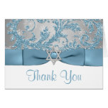 Winter Wonderland Bat Mitzvah Thank You Note Card