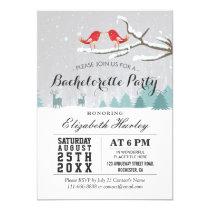 Winter Wonderland Bird Reindeer Bachelorette Party Card