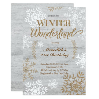 Winter Wonderland Birthday Invitations Announcements Zazzle