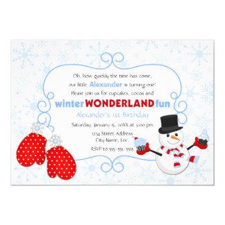 Winter Wonderland Birthday Invitation