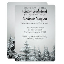 Winter Wonderland Birthday Party Invitation