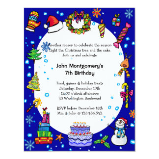 Winter Wonderland Birthday Party Invitation