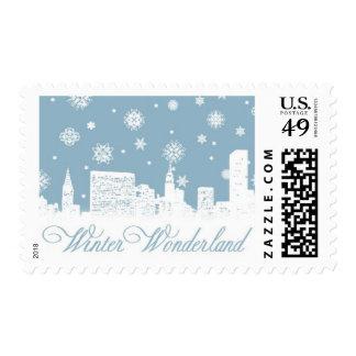 Winter Wonderland_Blue by Ceci New York Postage Stamps