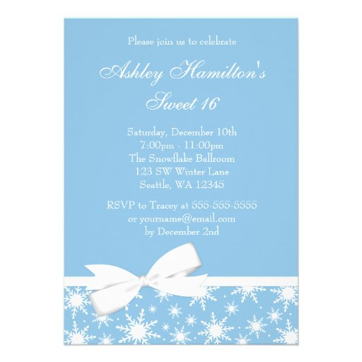 Winter Wonderland Party Invitation Template