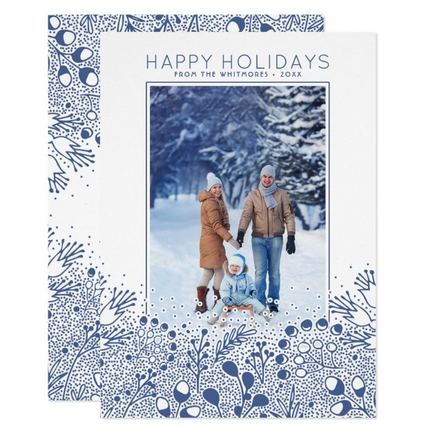 Winter Wonderland Branches Holiday Photo Card