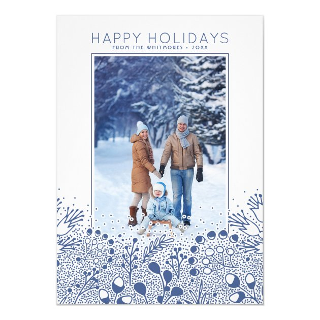 Winter Wonderland Branches Holiday Photo Card (back side)