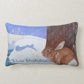 Winter Wonderland ...Brrr...Bunny! Lumbar Pillow