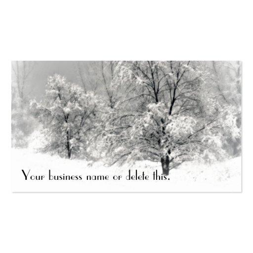 Winter Wonderland Business Card Templates