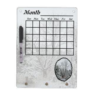 Winter Wonderland Calendar Dry Erase Board