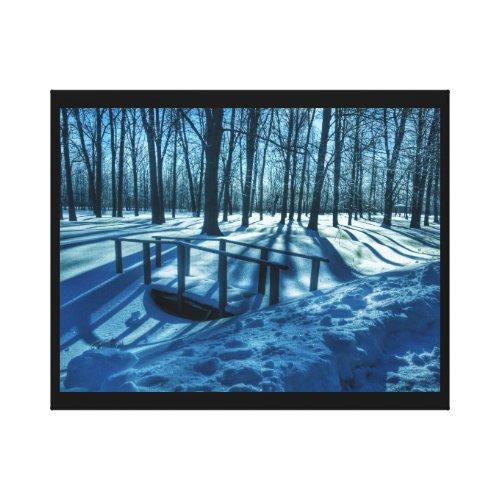 Winter Wonderland Canvas Print - winter home wall art decor