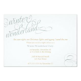 Winter Wonderland Card at Zazzle