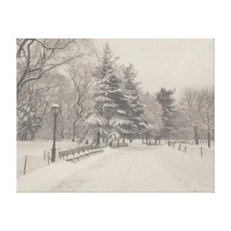 Winter Wonderland - Central Park Canvas Print