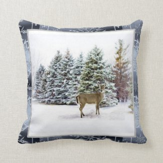 Winter Wonderland Christmas Holiday Square Pillow