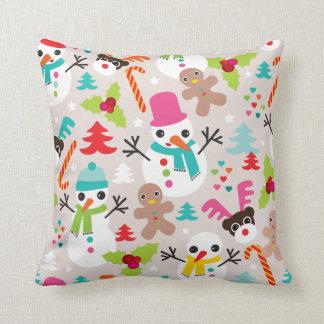 Winter wonderland christmas illustration pillow