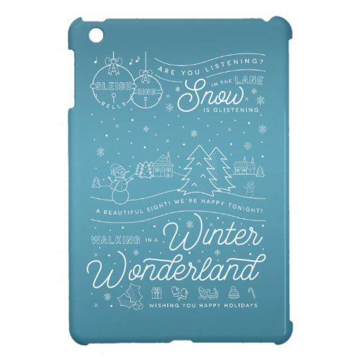 Winter Wonderland Christmas iPad Mini Case Blue
