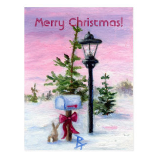 Winter Wonderland Christmas postcard