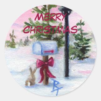 Winter Wonderland Christmas Sticker