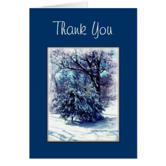 Winter Wonderland Christmas Thank You Card