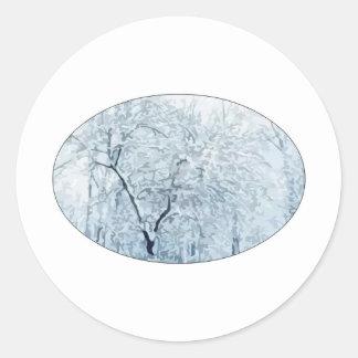 Winter Wonderland Classic Round Sticker