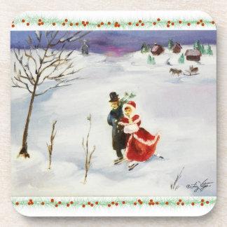 Winter Wonderland Cork Coaster
