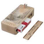 Winter Wonderland Crib Board Snow Forest Cribbage Wood Cribbage Board