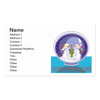 Winter Wonderland Double-Sided Standard Business Cards (Pack Of 100)