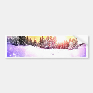 Winter wonderland dream art by healing love bumper sticker